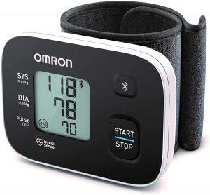 Tensiomètre au Poignet OMRON RS3 Intelli IT avec Connectivité Bluetooth, pour Utilisation à Domicile ou en Déplacement
