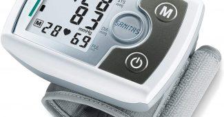 Tensiomètre électronique au poignet Sanitas SBM 03 | compact, facile à emporter | mesure tension artérielle | détecteur..