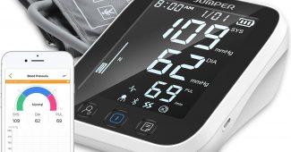 Tensiomètre à Bras JUMPER Avec 2 Utilisateurs, 2 Modules D'alimentation, 198 Mémoires de Données, Tensiomètre Numé...