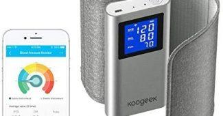Koogeek Tensiomètre Bras Électronique, Smart WiFi Bluetooth Connectée Automatique Rechargeable avec App pour iOS et Android pour..